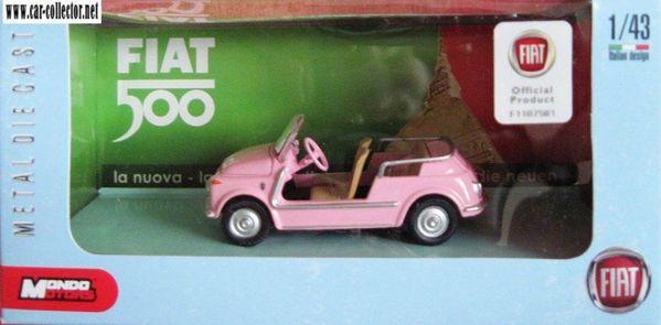 fiat 500 jolly 1957 pink mondo motors in box