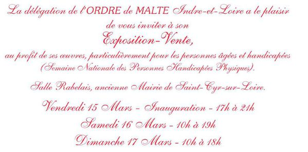 Invitation Expo Vente Ordre de Malte France 37 - 2‏