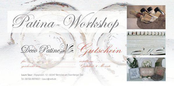 Gutschein Patina Workshop