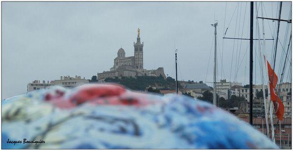 Marseille Notre Dame de la Garde la pluie 5