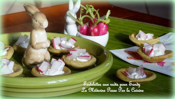 tartelettes aux radis pour sandy