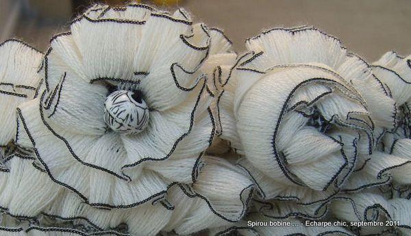 Echarpe chic petites fleurs déco