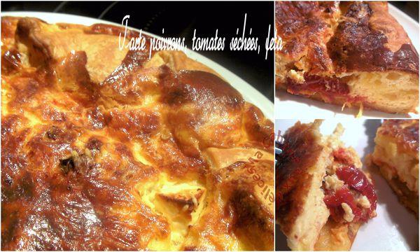 Tarte salé poivrons tomates séchées feta montage