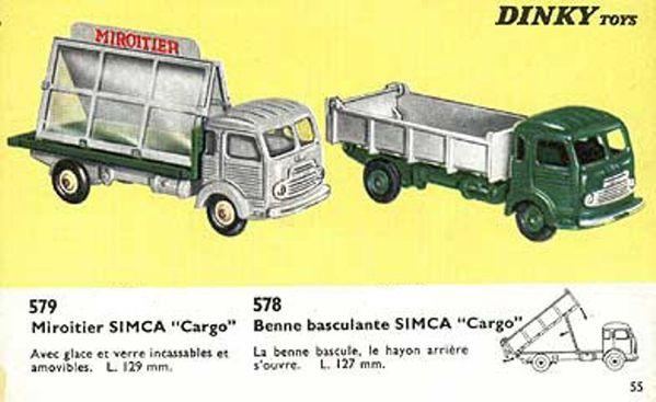 catalogue dinky toys 1966 p55 simca cargo miroitier simca c