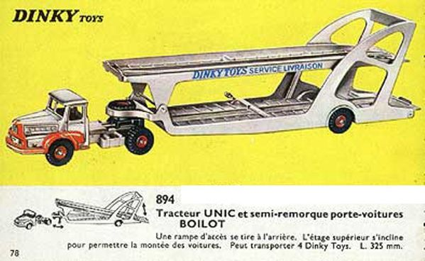 catalogue dinky toys 1966 p78 camion unic porte voitures bo