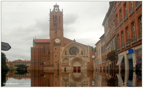 Toulouse Cathedrale St Etienne inondation