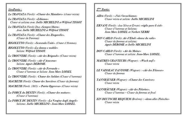 Mille choeurs 2014 programme