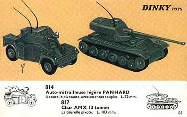 catalogue dinky toys 1966 p85 automitraileuse panhard char