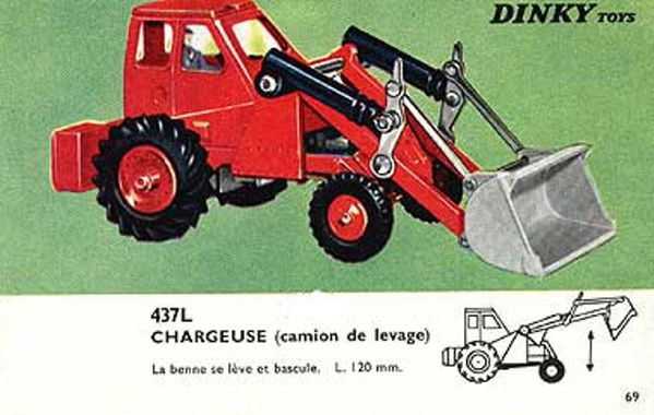 catalogue dinky toys 1966 p69 chargeuse camion de levage