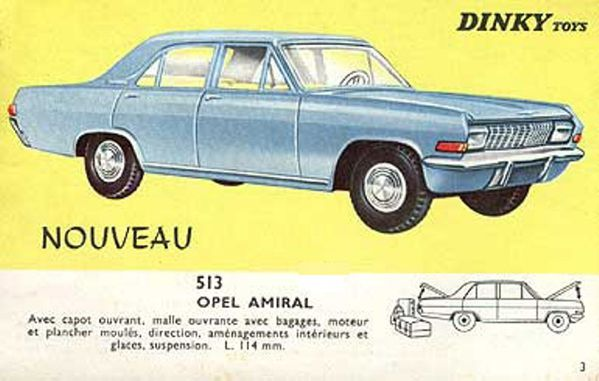 catalogue dinky toys 1966 p03 opel amiral