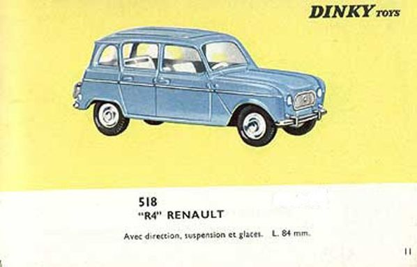 catalogue dinky toys 1966 p11 renault r4