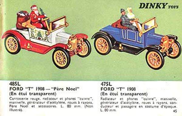 catalogue dinky toys 1966 p45 ford t 1908 pere noel dinky