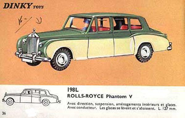 catalogue dinky toys 1966 p36 rolls royce phantom v