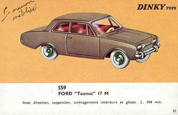 catalogue dinky toys 1966 p31 ford taunus 17m