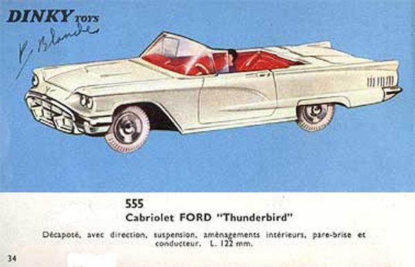 catalogue dinky toys 1966 p34 ford thunderbird cabriolet
