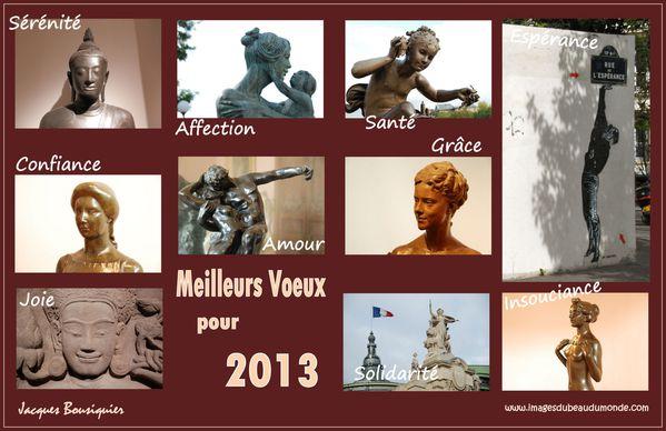 meilleurs voeux 2013 art sculpture