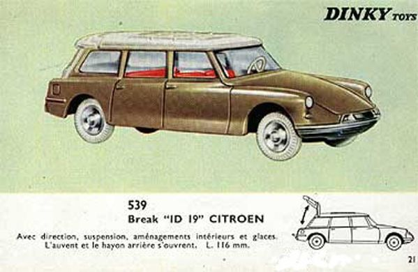 catalogue dinky toys 1966 p21 citroen ds id 19 dsid19
