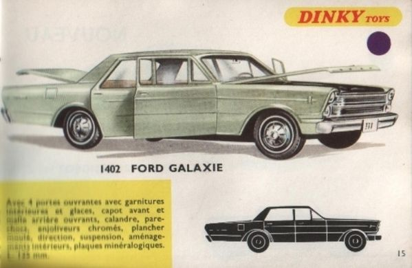 catalogue dinky toys 1968 p015 ford galaxie