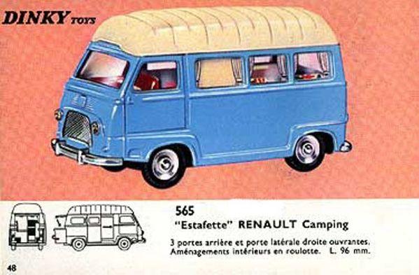 catalogue dinky toys 1966 p48 estafette renault camping