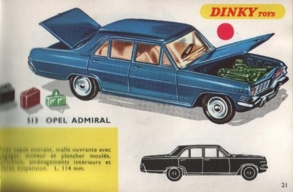 catalogue dinky toys 1968 p021 opel admiral