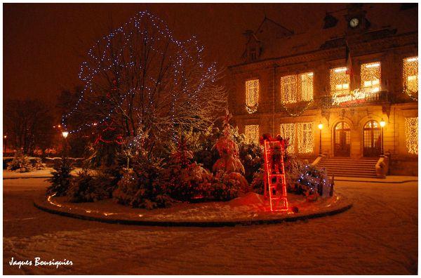 Creil hotel de ville soir neige 1