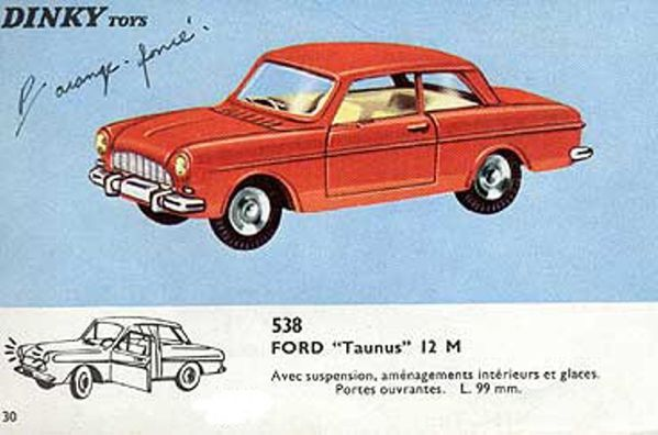 catalogue dinky toys 1966 p30 ford taunus 12m