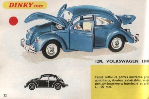 catalogue dinky toys 1968 p022 volkswagen cox 1300 cox dink