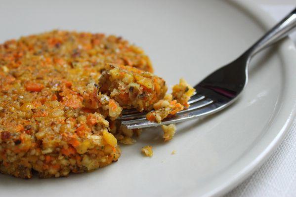 galette végétarienne pois chiches carottes 1