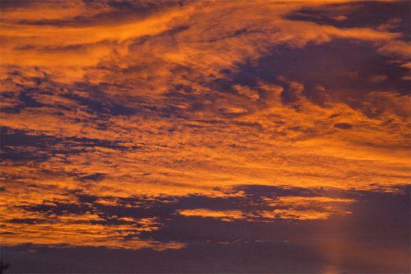 Soleil levant à Rilhac