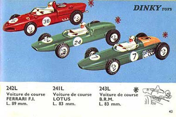 catalogue dinky toys 1966 p43 voiture de course f1 ferrari