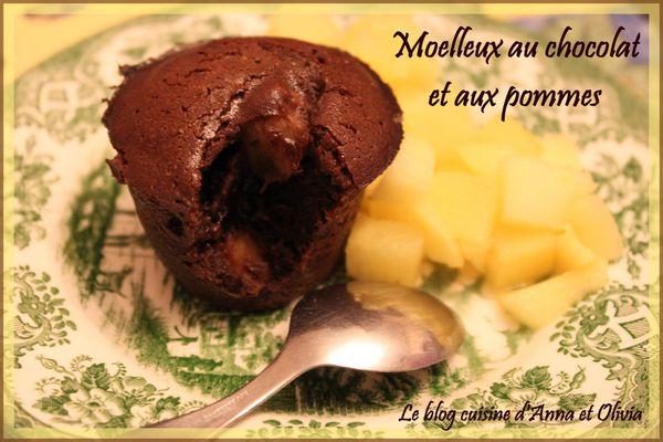 Moelleux au chocolat et aux pommes