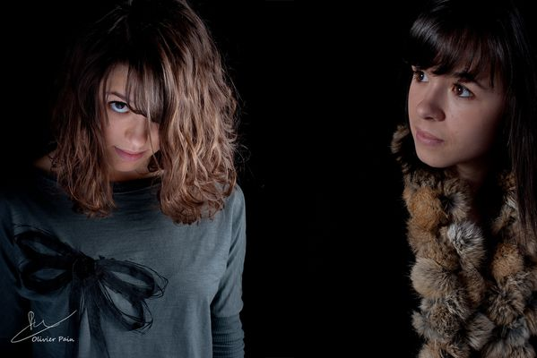 portraits en low key en studio