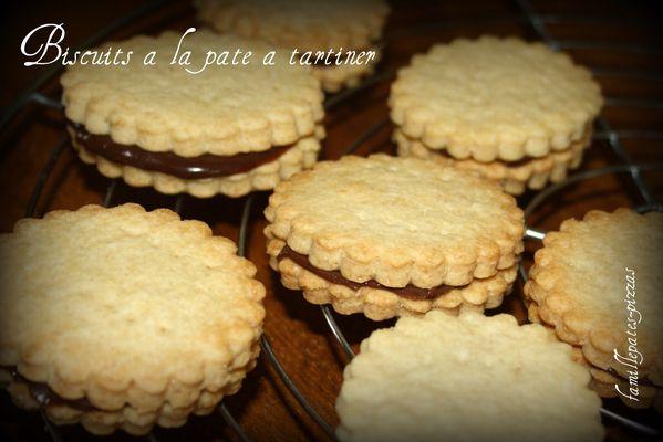 bicuits à la pâte à tartiner