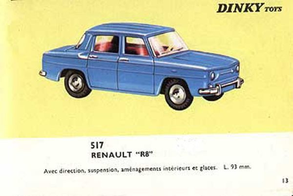 catalogue dinky toys 1966 p13 renault r8