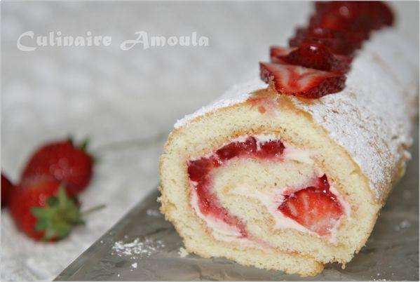 roulé de fraise et mascarpone7