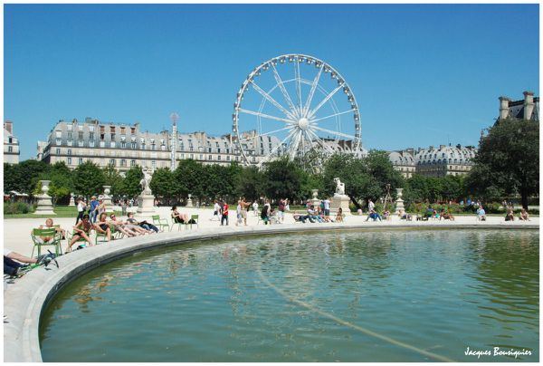 Paris Tuileries bassin grande roue