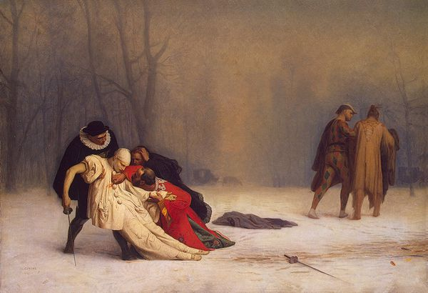 Gerome Jean Leon Duel after a Masked Ball 1857
