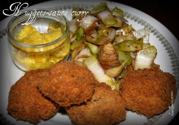 nuggets-sauce curry