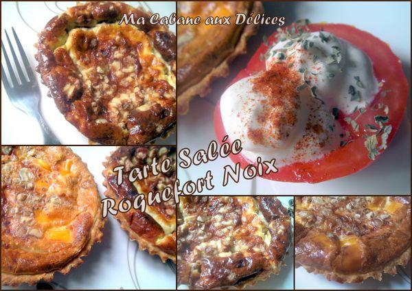 Tarte salée roquefort noix photo 4