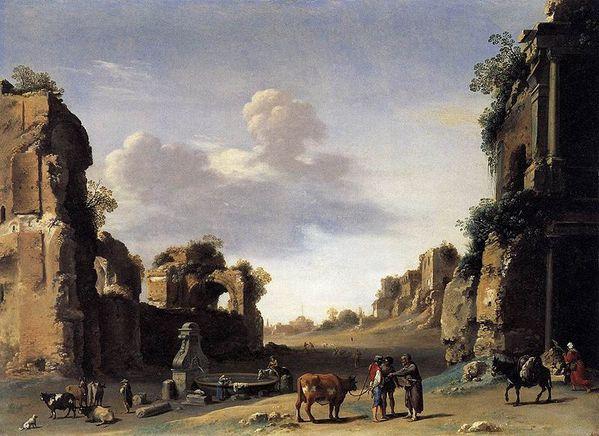 1620 Cornelis van Poelenburch Campo Vaccino