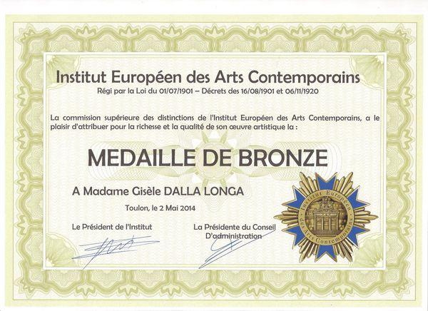 Institut Médaille de BRONZE 001