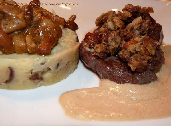 tournedos en crumble de noisettes et cèpes, sauce-copie-1