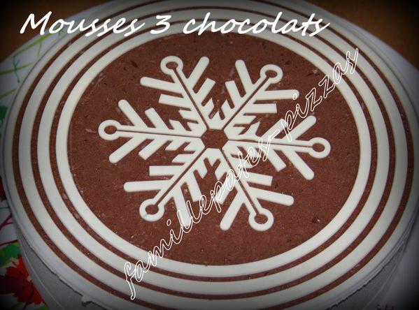 mousses 3 chocolats