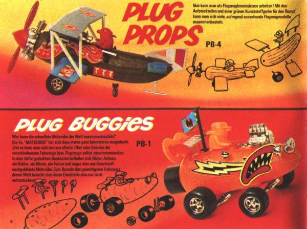 catalogue matchbox 1972-1973 p08 plug buggies plug props