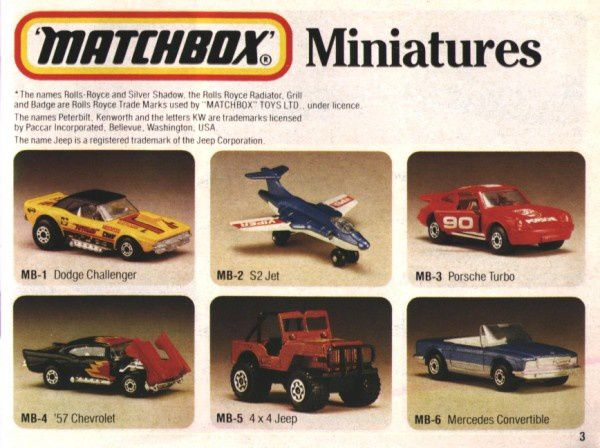 catalogue matchbox 1983 p03 dodge challenger 57 chevy