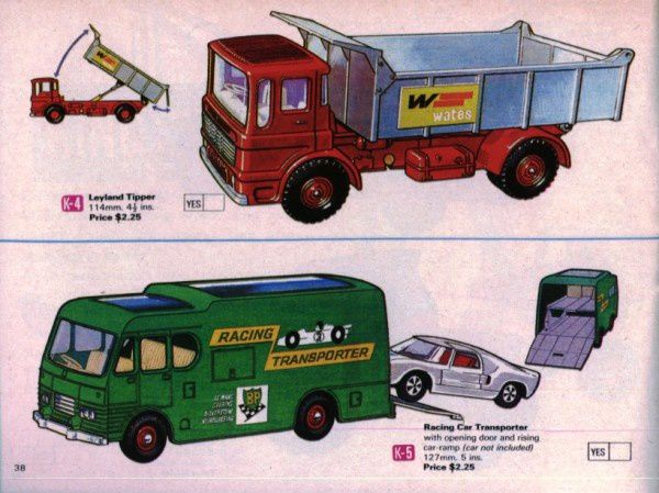catalogue matchbox 1970 p38 leyland tipper