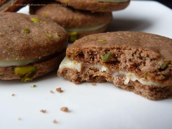 sablés chocolat pistache