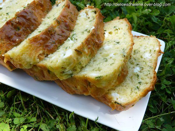 cake à la feta et aux herbes fraîches (1)