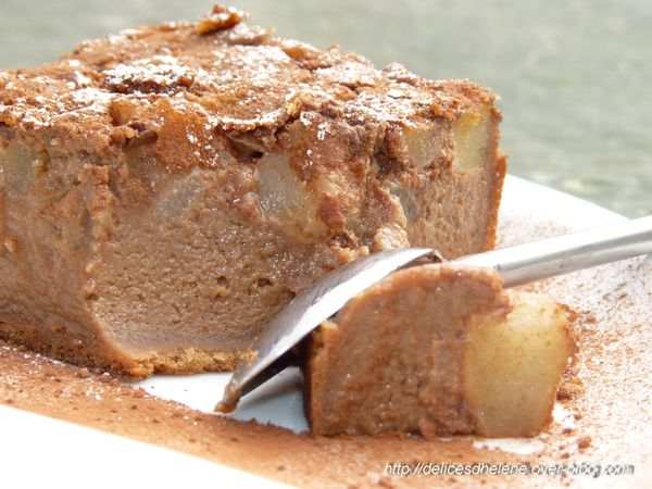 clafoutis chocolat et poires (2)