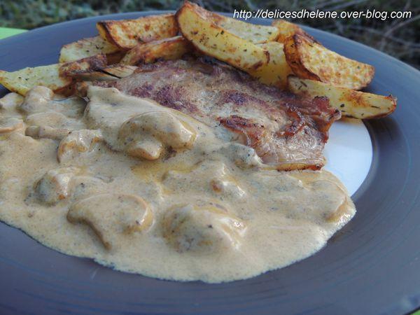 Côtes de veau à la crème et aux champignons (2)